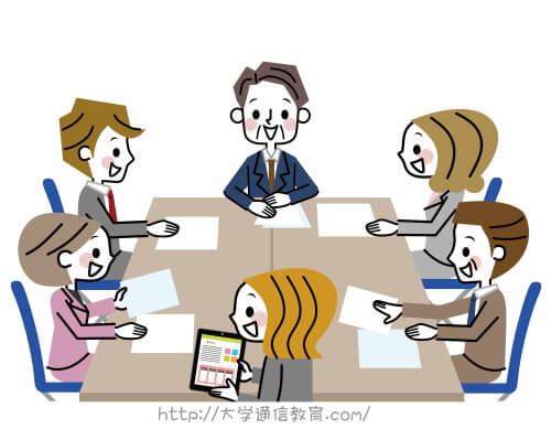 図書館で働く司書職員が行う選書を選ぶ会議中