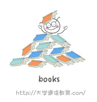 たくさんの書籍を整理整頓する司書